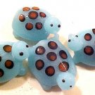 Turtle Lampworked 2 Light Blue Glass Beads