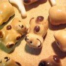 Bears Teddy 6 Porcelain Beads