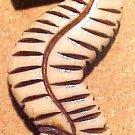 Seahorse Carved Bone Bead