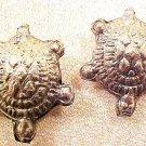Turtle 6 Silvered Metal Bead