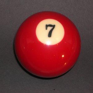 CUSTOM POOL BILLIARD BALL GEAR SHIFTER SHIFT KNOB #7