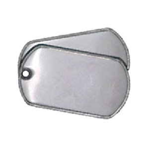 LOT of 200 Stainless Steel Blank military army dog tags (shiny)