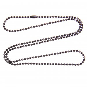 """10 Black Steel 27"""" Ball Chain Necklaces 2.4mm Bead Military dog tag chains"""