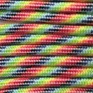 PARACORD 550 LB PARACHUTE CORD MIL SPEC TYPE III **WITH FREE BUCKLES* (LIGHT STRIPES 100FT)