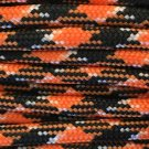 PARACORD 550 LB PARACHUTE CORD MIL SPEC TYPE III **WITH FREE BUCKLES* (ORANGE/BLACK 100FT)