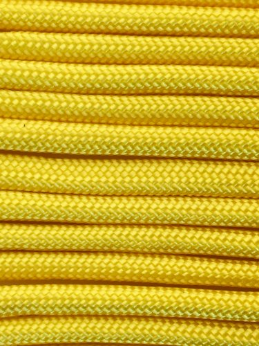 PARACORD 550 LB PARACHUTE CORD MIL SPEC TYPE III **WITH FREE BUCKLES* (YELLOW 100FT)