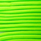 PARACORD 550 LB PARACHUTE CORD MIL SPEC TYPE III **WITH FREE BUCKLES** (NEON GREEN 20FT)