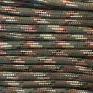 PARACORD 550 LB PARACHUTE CORD MIL SPEC TYPE III **WITH FREE BUCKLES** (GREEN CAMO 20FT)