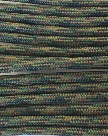 PARACORD 550 LB PARACHUTE CORD MIL SPEC TYPE III **WITH FREE BUCKLES** (WOODLAND 50FT)