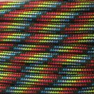 PARACORD 550 LB PARACHUTE CORD MIL SPEC TYPE III **WITH FREE BUCKLES** (DARK STRIPES 50FT)