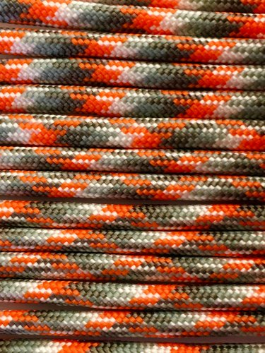 PARACORD 550 LB PARACHUTE CORD MIL SPEC TYPE III **WITH FREE BUCKLES** (ION STORM 50FT)