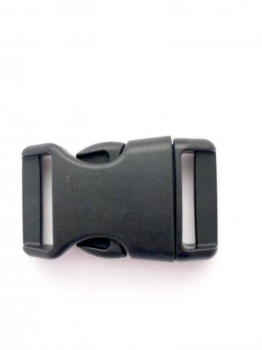 """1"""" Contoured Side Release Buckles for Paracord Bracelets(black, 50 pack)"""