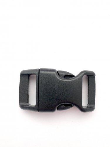 """5/8"""" Contoured Side Release Buckles for Paracord Bracelets(black, 25 pack)"""