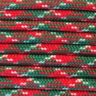 PARACORD 550 LB PARACHUTE CORD MIL SPEC TYPE III (CHRISTMAS 1FT)