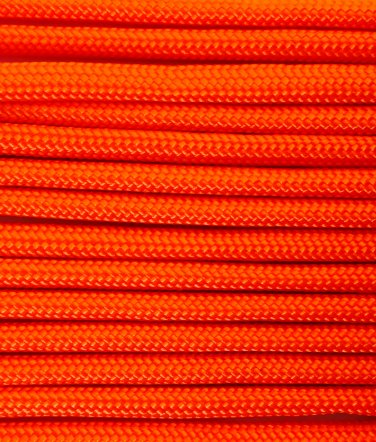 PARACORD 550 LB PARACHUTE CORD MIL SPEC TYPE III **WITH FREE BUCKLES** (NEON ORANGE 5FT)