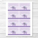 Mod Elephant Owl Forest Friends Printable Baby Shower Book Request Cards #A100