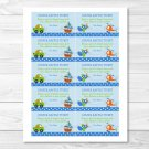 Transportation Around The Town Printable Baby Shower Diaper Raffle Tickets #A103