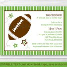 Football All Star Printable Baby Shower Invitation Editable PDF #A110