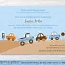 Bumper To Bumper Cars & Trucks Printable Baby Shower Invitation Editable PDF #A114