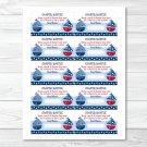 Sail Away Sailboat Nautical Blue Printable Baby Shower Diaper Raffle Tickets #A123