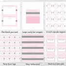 Modern Pink Chevron Printable Baby Shower Party Package #A127