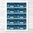 Under The Sea Octopus Turtle Crab Printable Baby Shower Diaper Raffle Tickets #A128