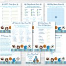 Sports All Star Football Baseball Baby Shower Games Pack - 8 Printable Games #A119