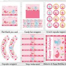 Pink Under The Sea Printable Birthday Party Package #A159