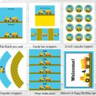 Construction Trucks Printable Birthday Party Package #A174