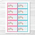 Pink Owl Blossom Printable Baby Shower Diaper Raffle Tickets #A162