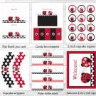 Little Red Ladybug Printable Baby Shower Party Package #A177