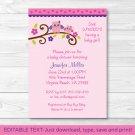 Girl Owl Blossom Printable Baby Shower Invitation Editable PDF #A133