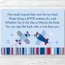 Lil Aviator Airplane Printable Baby Shower Book Request Cards #A112