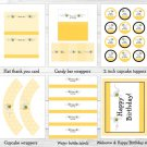 Sweet Little Bumble Bee Printable Birthday Party Package #A201