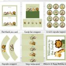 Safari Friends Jungle Animals Printable Birthday Party Package #A208