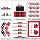 Little Red Ladybug Garden Printable Birthday Party Package #A214