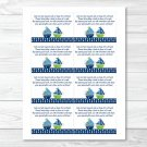 Sail Away Sailboat Nautical Green Printable Baby Shower Book Request Cards #A210