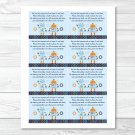 Baby Bots Robot Printable Baby Shower Book Request Cards #A228