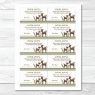 Woodland Baby Deer Printable Baby Shower Diaper Raffle Tickets #A131