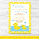 Lil Rubber Ducky Printable Baby Shower Invitation Editable PDF #A176