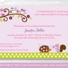 Girl Owl Woodland Forest Friends Printable Baby Shower Invitation Editable PDF #A250