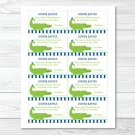Preppy Alligator Printable Baby Shower Diaper Raffle Tickets #A157