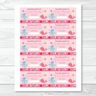 Pink Under The Sea Printable Baby Shower Diaper Raffle Tickets #A262
