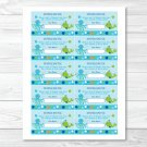 Under The Sea Octopus Whale Nautical Printable Baby Shower Diaper Raffle Tickets #A237