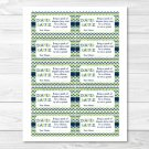 Lime Green Navy Chevron Printable Baby Shower Diaper Raffle Tickets #A278