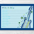 Rock Star Printable Baby Shower Wishes For Baby Advice Cards #A279
