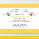 Lil Bumble Bee What Will It Bee? Printable Gender Reveal Invitation Editable PDF #A173