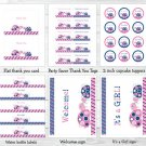 Mod Pink Turtle Mom And Baby Printable Baby Shower Party Package #A286