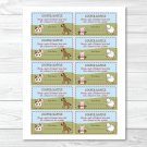 Farm Babies Cow Horse Pig Sheep Printable Baby Shower Diaper Raffle Tickets #A146