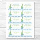 Mod Elephant Giraffe Jungle Printable Baby Shower Diaper Raffle Tickets #A113